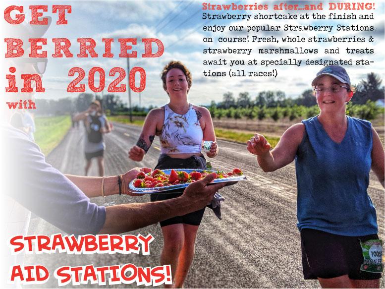 Strawberry stations foot traffic flat
