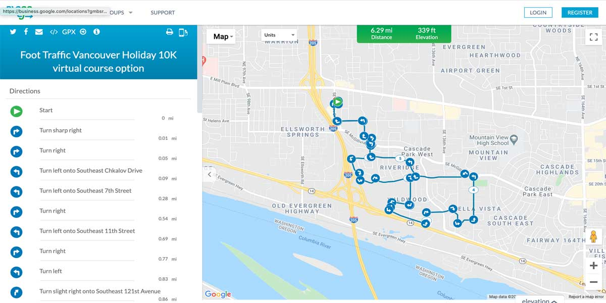 Vancouver 10K Map