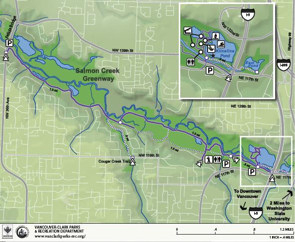 Salmon Creek Trail Map