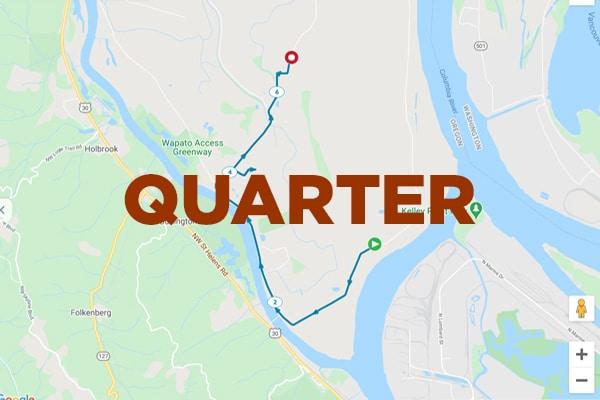 Quarter Marathon Map